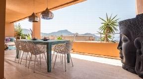Appartement met prachtig uitzicht Er Verdra Cala Carbo