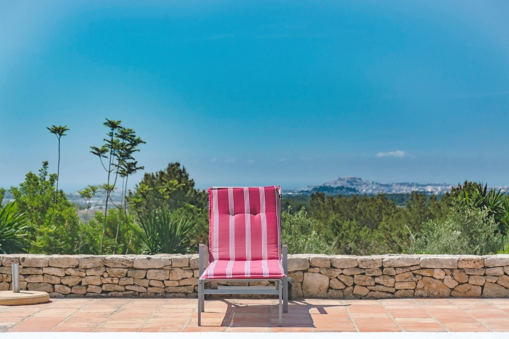 Mediterrane Ibiza Finca met uitzicht op Ibiza en Formentera