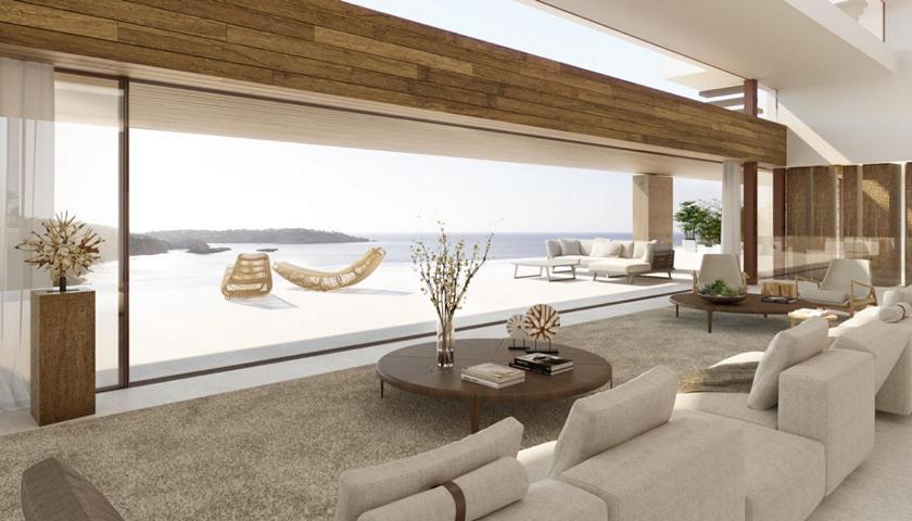 Spectaculaire nieuwe villa met uitzicht op zee in de eerste plaats