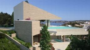 3 mega moderne villa's eerste lijn naar het strand met zonsondergang