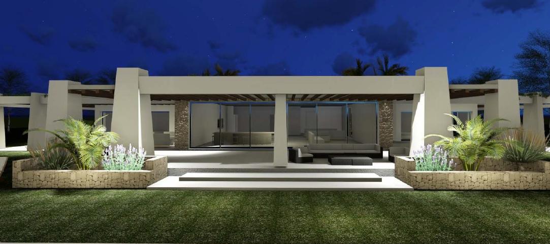 Nieuw gebouwde villa te koop in Porroig met een prachtig uitzicht