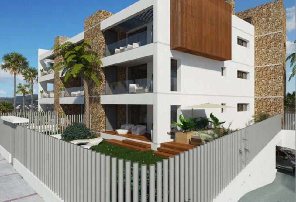 Nieuw gebouwde gemeenschap van 9 appartementen in de buurt van Ibiza