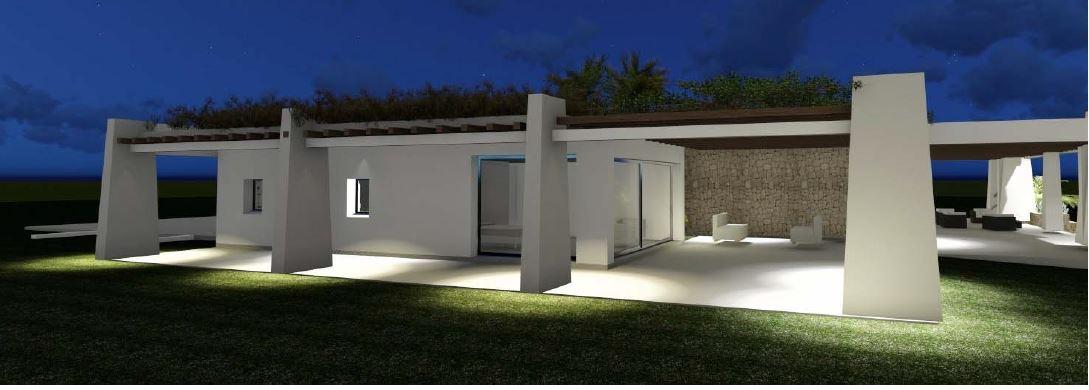 Perceel van 30000m² met vergunning in Porroig voor een villa met een woonoppervlak van 500m²