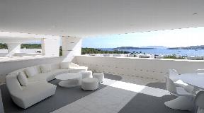 Luxe penthouse met een fantastisch uitzicht op de oude stad en Formentera