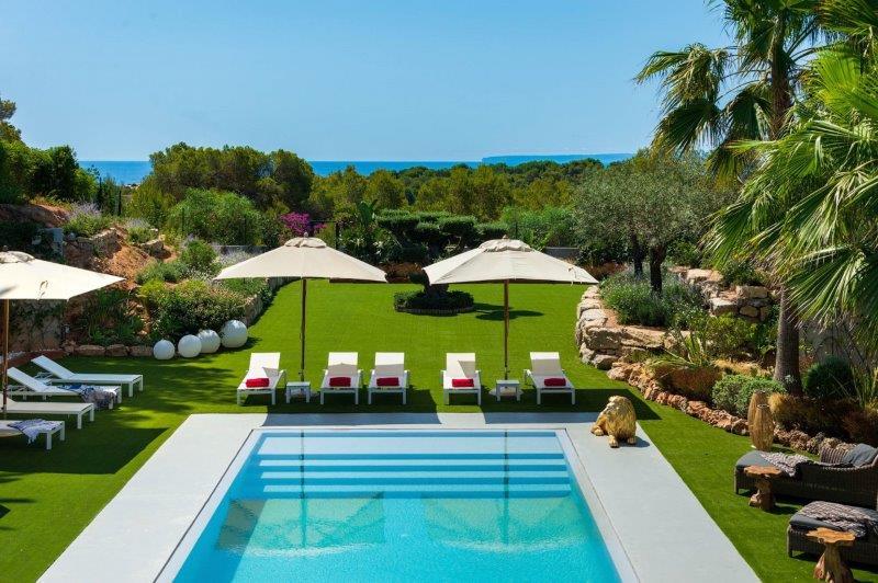 Luxe villa met 10 slaapkamers en mooi uitzicht in Can Pep Simo