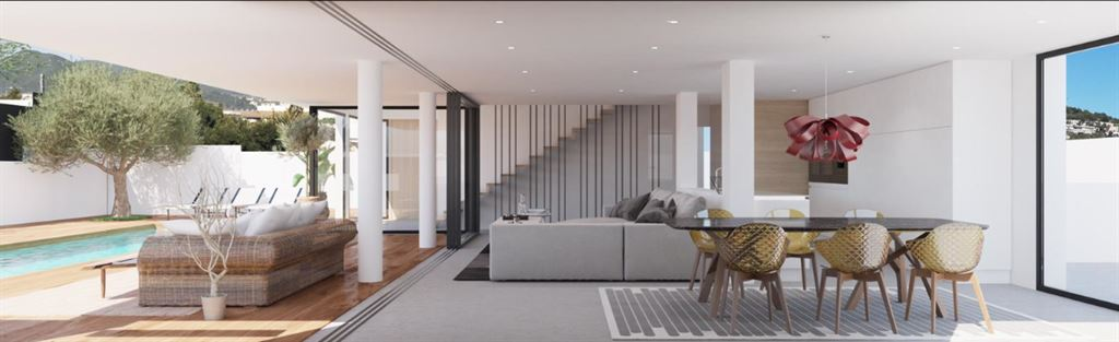 Gloednieuwe moderne en mooi gebouwde villa te koop in Ses Torres -Ibiza