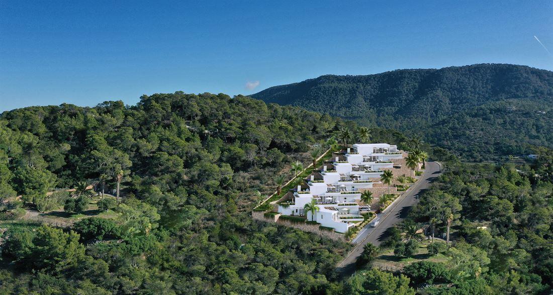 Fantastische villa's met uitzicht op zee en uitzicht op Es Vedra te koop