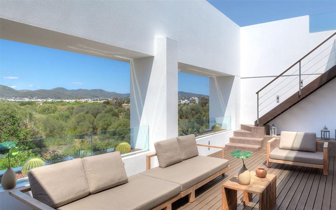 Geweldig penthouse met privézwembad dichtbij het strand