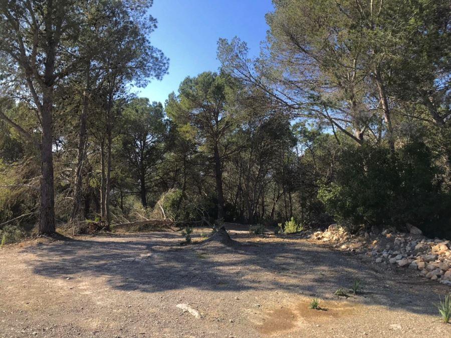 Rustiek land van 550.000 m2 '(Ha = 55) bergopwaarts met uitzicht op zee in de buurt van Ibiza te koop