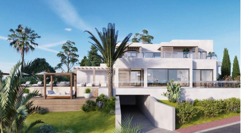 Luxe villa in Can Furnet met mooi uitzicht op Dalt Vila en zee
